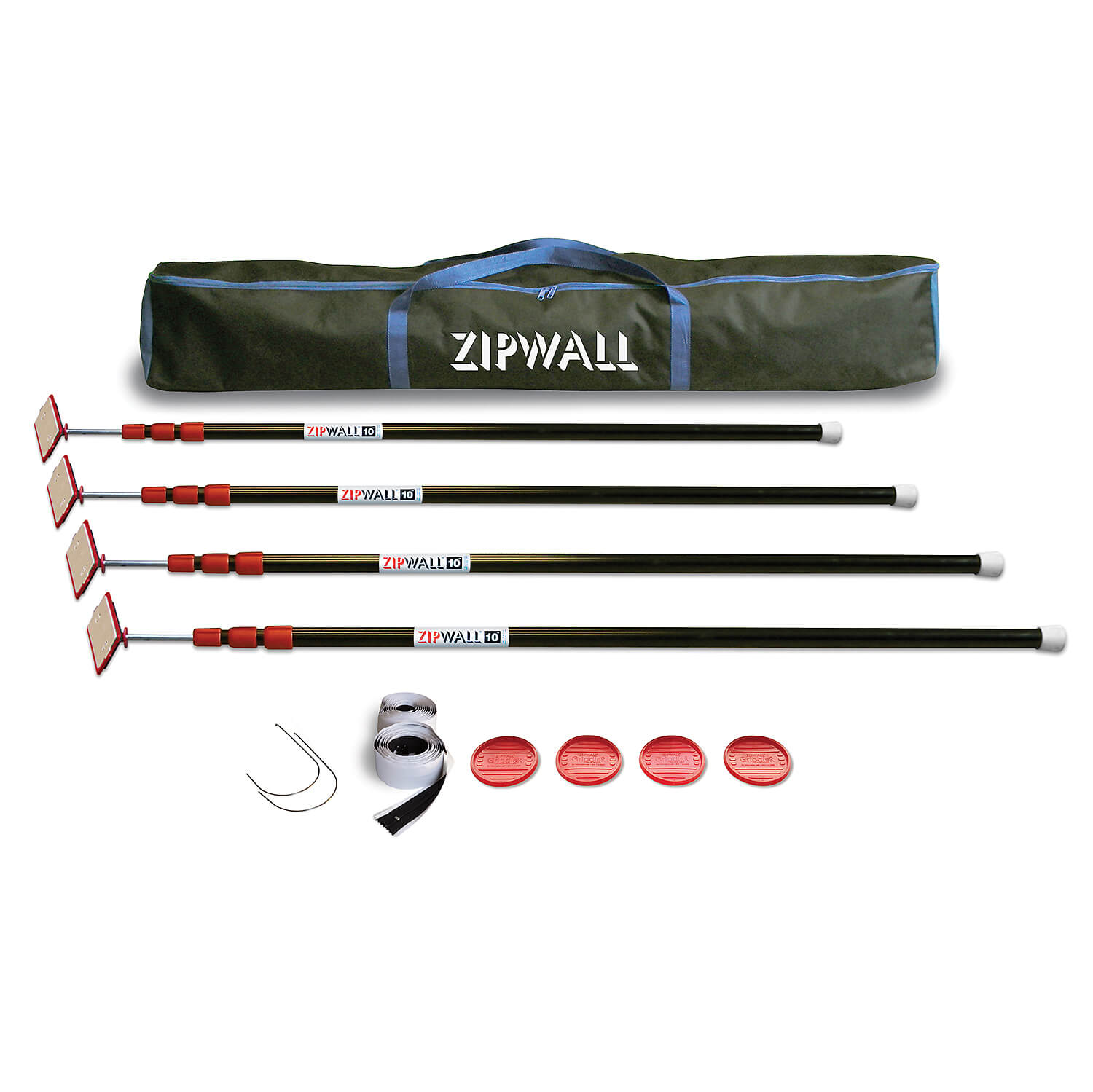 Zip Wall Spring Loaded Poles